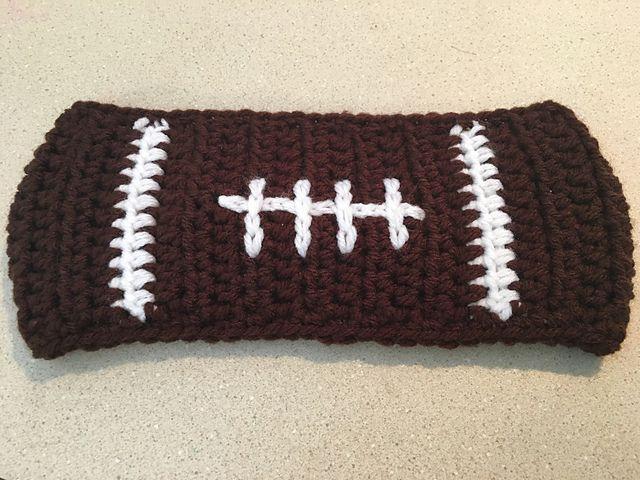 Football Crochet Earwarmer Free Pattern 5270af3a06e