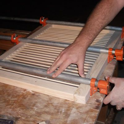 Clamping the Louver Assembly