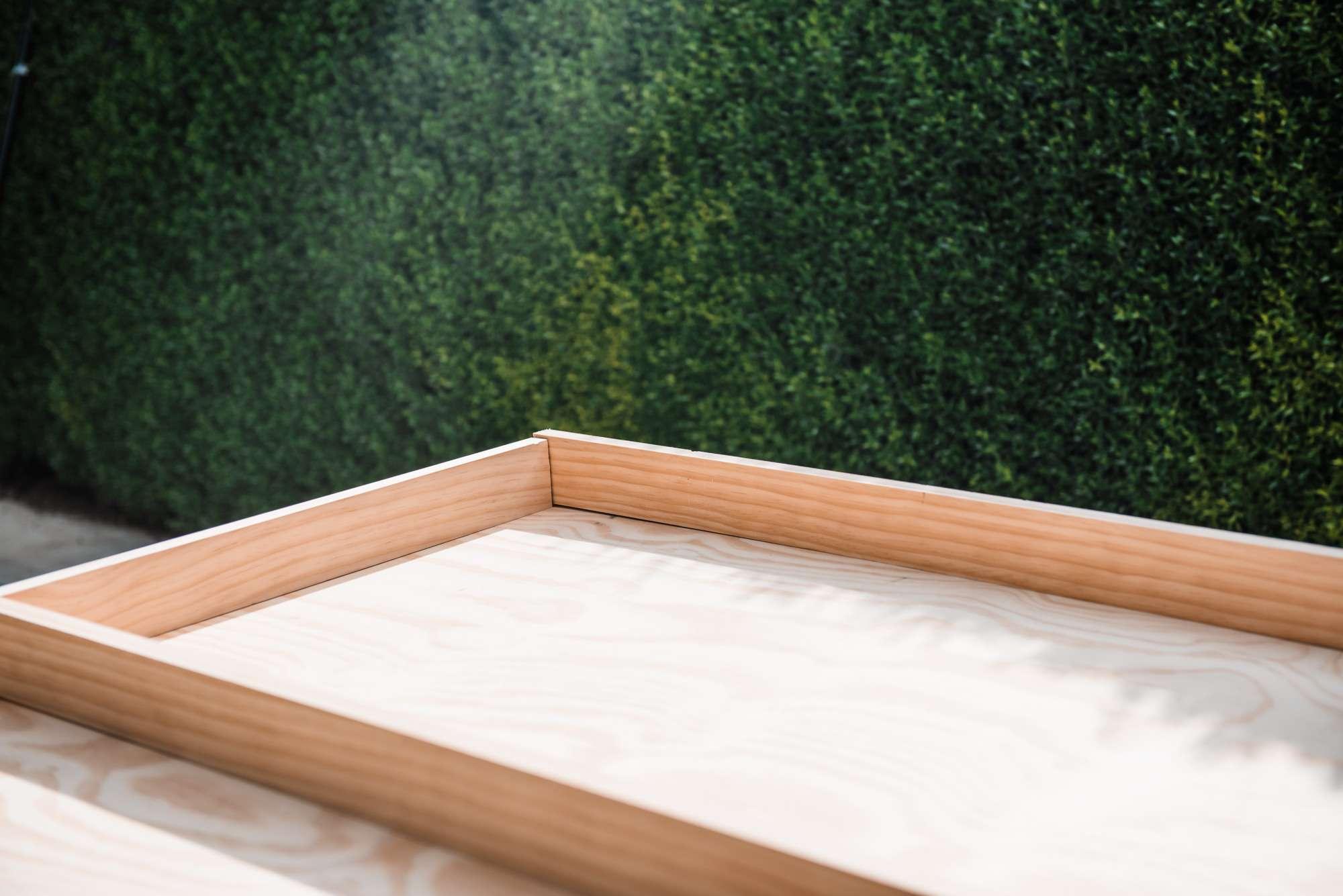 rectangular wooden frame