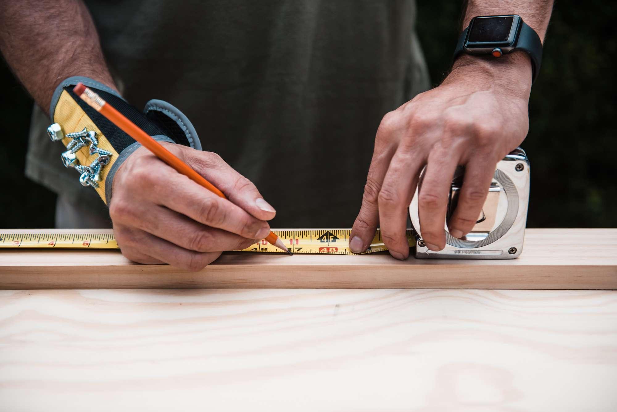 marking plywood