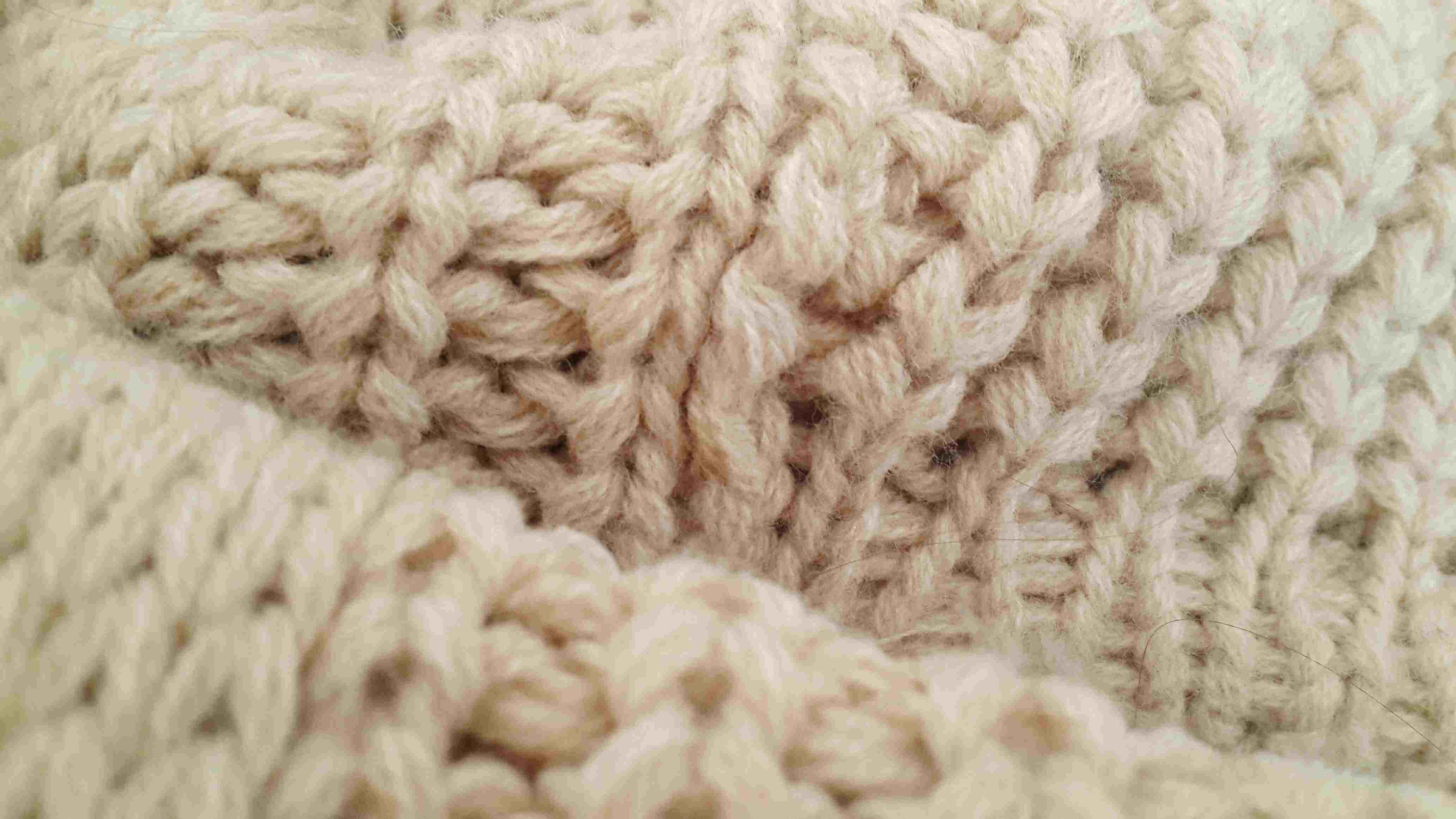 Detail shot of wool material
