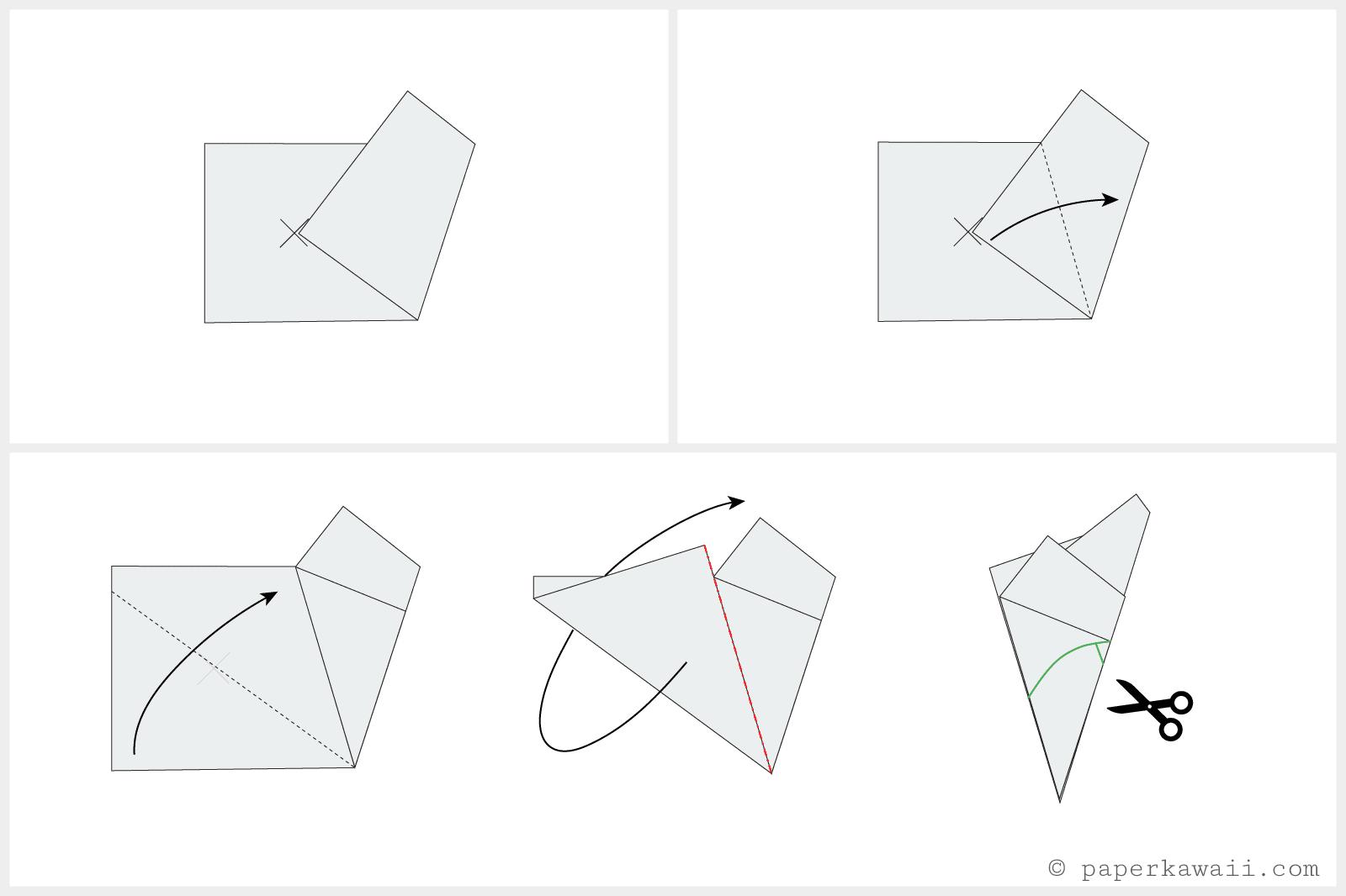 Origami Cherry Blossom Tutorial 02