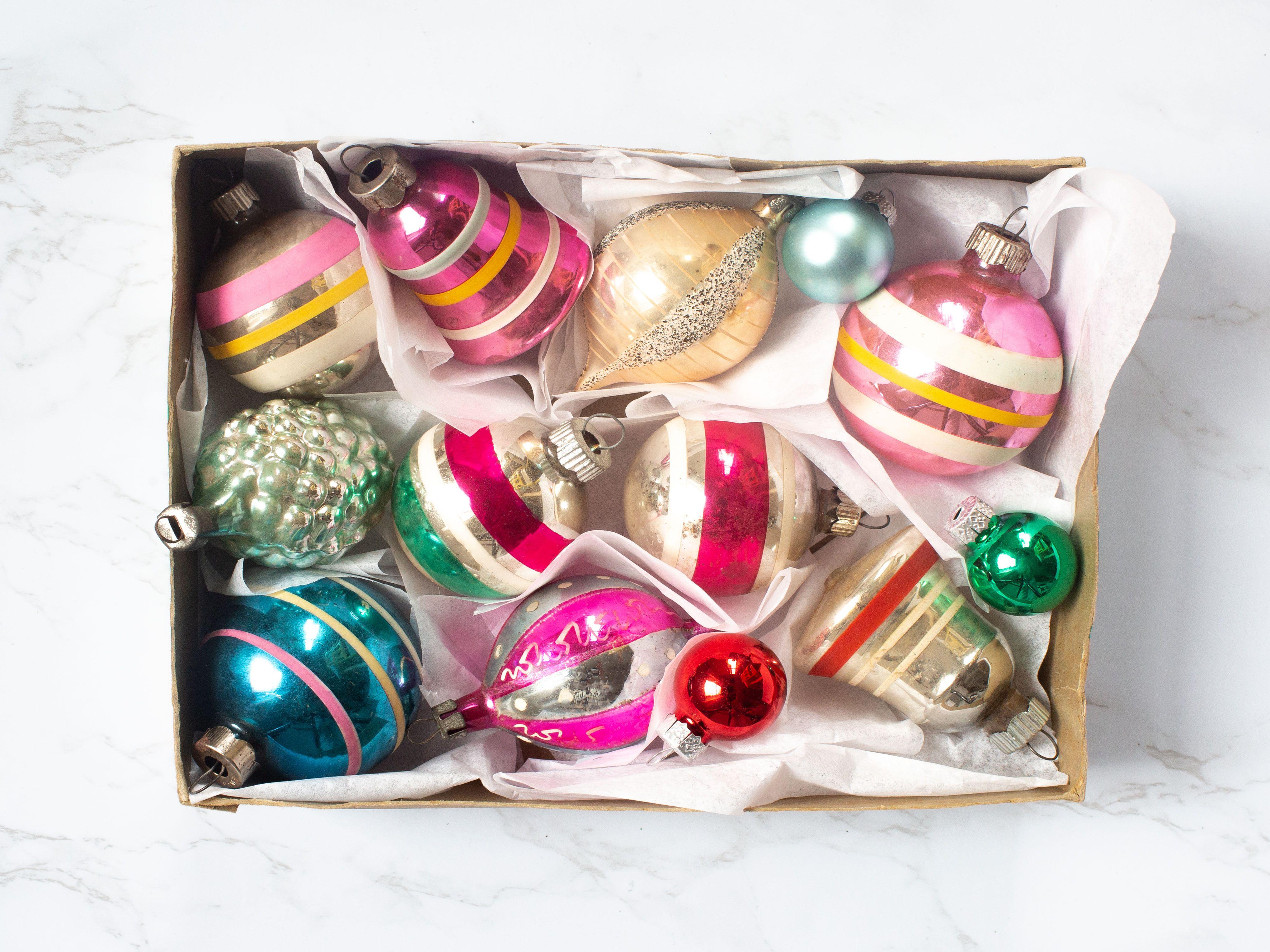 A Set of crochet Christmas ornaments 6 pcs  Christmas Decorations  Christmas Decor  Christmas tree decor  winter holiday decorations