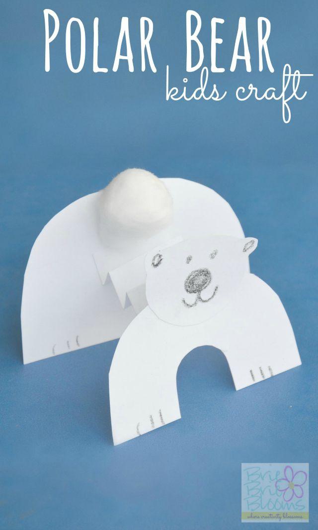 Polar Bear Kids Craft