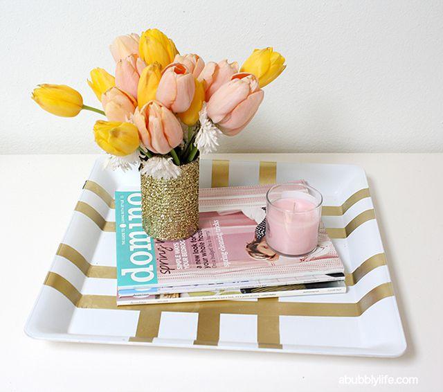 DIY Gold Glam Tray