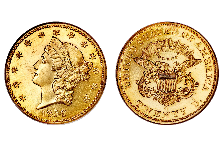 1856-O Liberty Head $20 Gold Double Eagle
