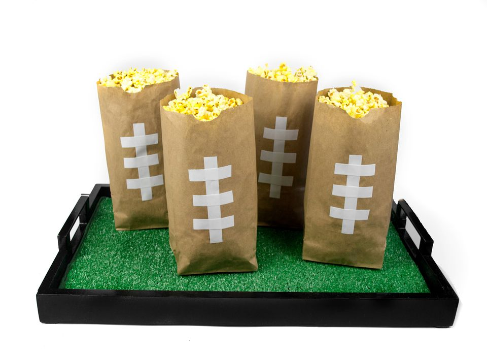DIY Super Bowl Snack Bags And Tray