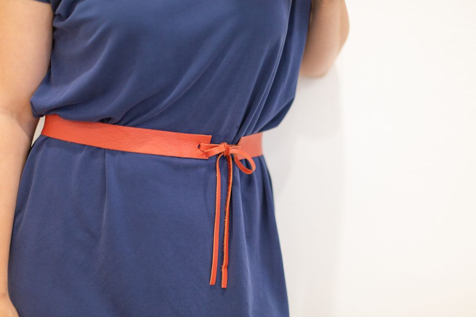 Belt around woman's waist