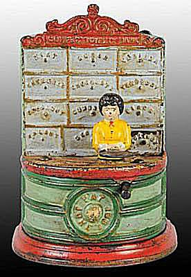 Cast Iron Confectionary Mechanical Bank