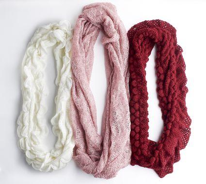 wool infinity scarves