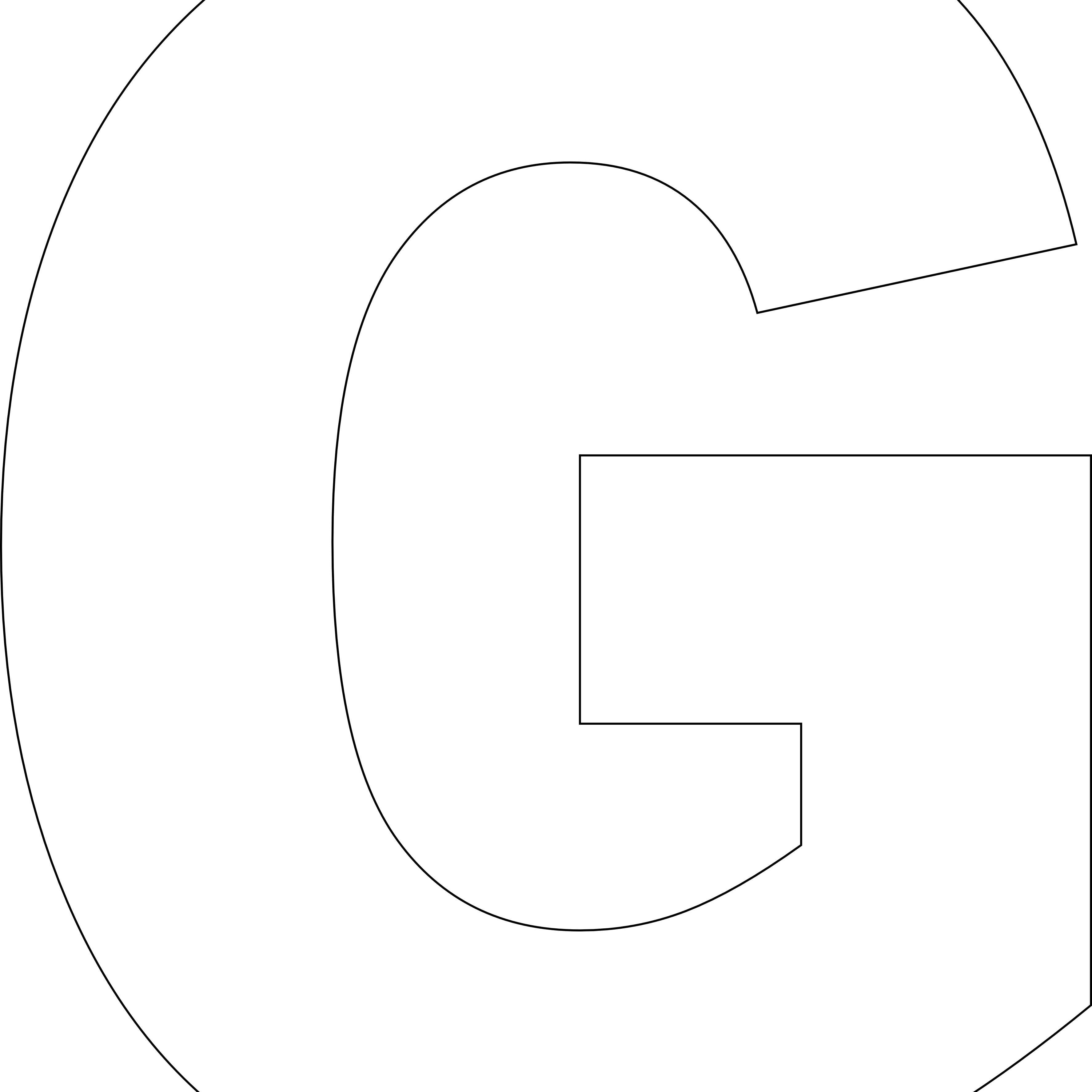 Free Printable G Template