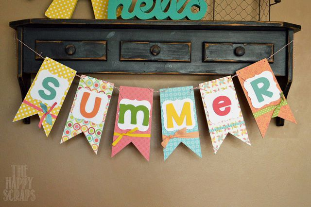 summer DIY paper banner