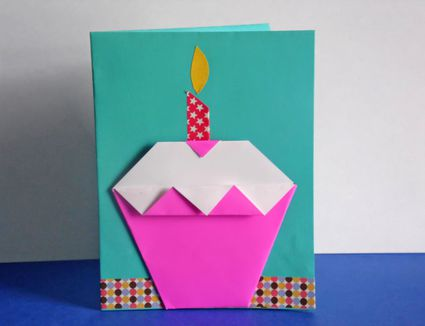 how to make an origami cupcake birthday card origami for kids