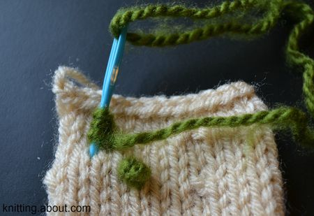 How To Make A French Knot On Your Knitting Projects