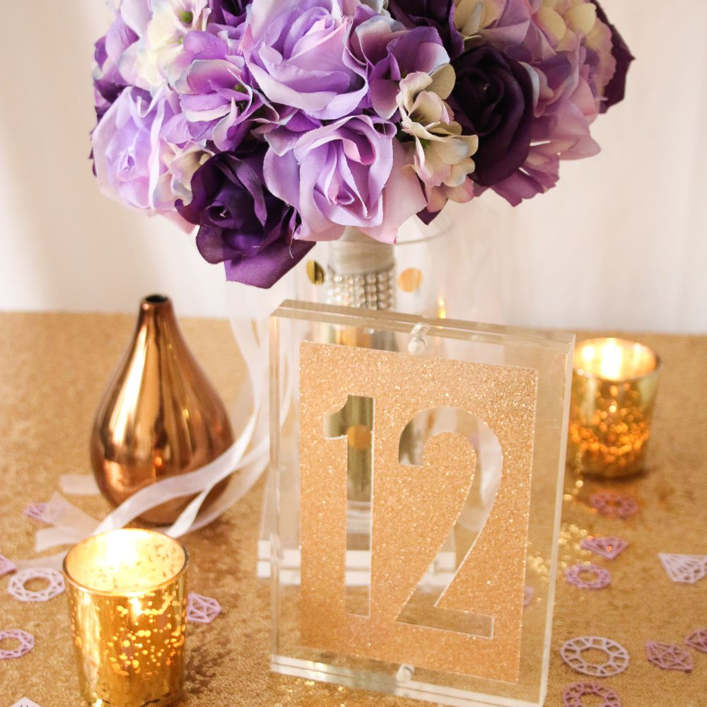 acrylic frame table numbers