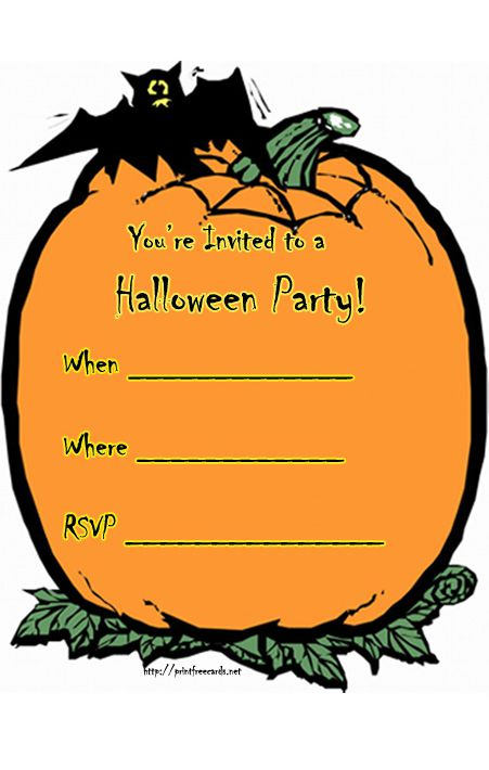 17 Free Halloween Invitations You Can Print From Home