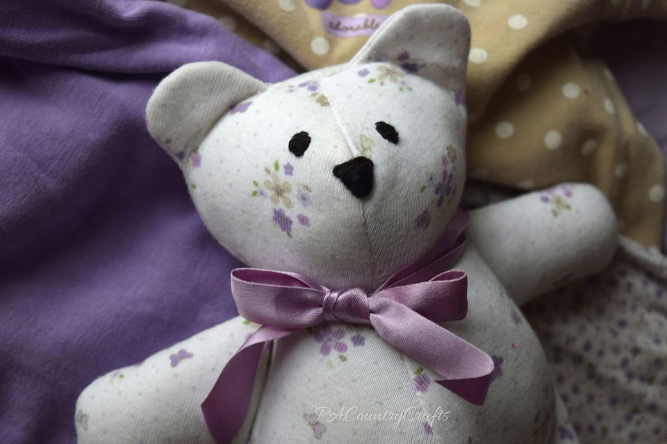 Baby Clothes Memory Bear Pattern