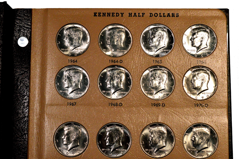 Closeup of a Dansco Coin Album