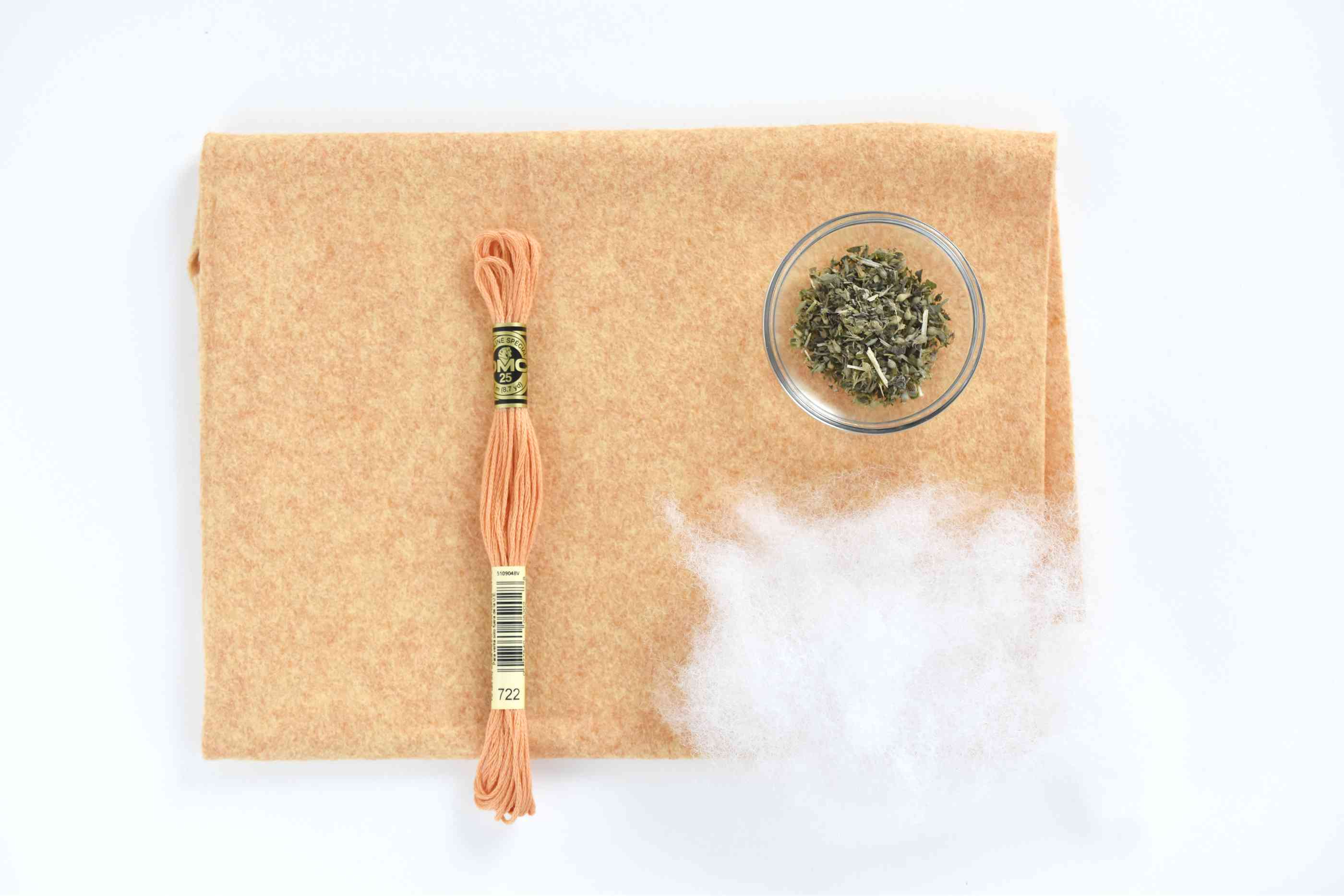 DIY catnip mouse toy supplies