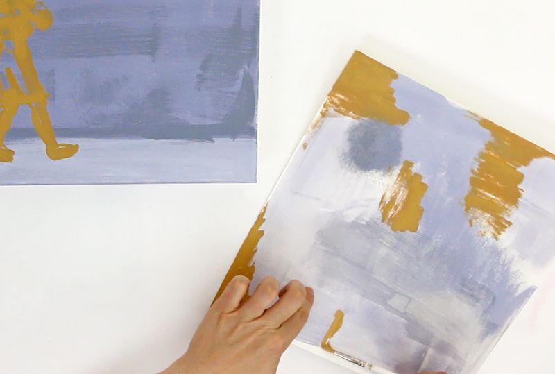 clean brush painting technique