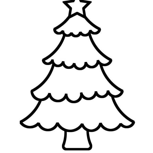 A Christmas tree template