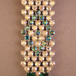 Circa: Late '50s Schiaparelli Rhinestone Dangle Brooch