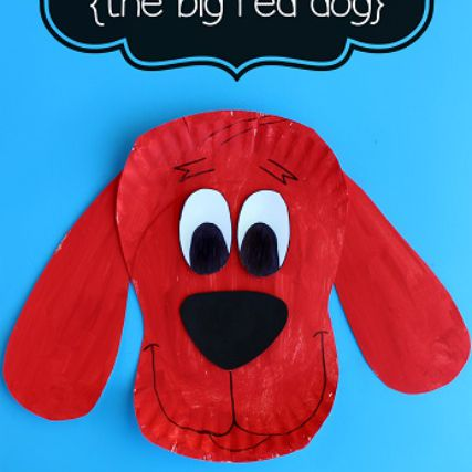 Paper Plate Clifford Craft for Kids