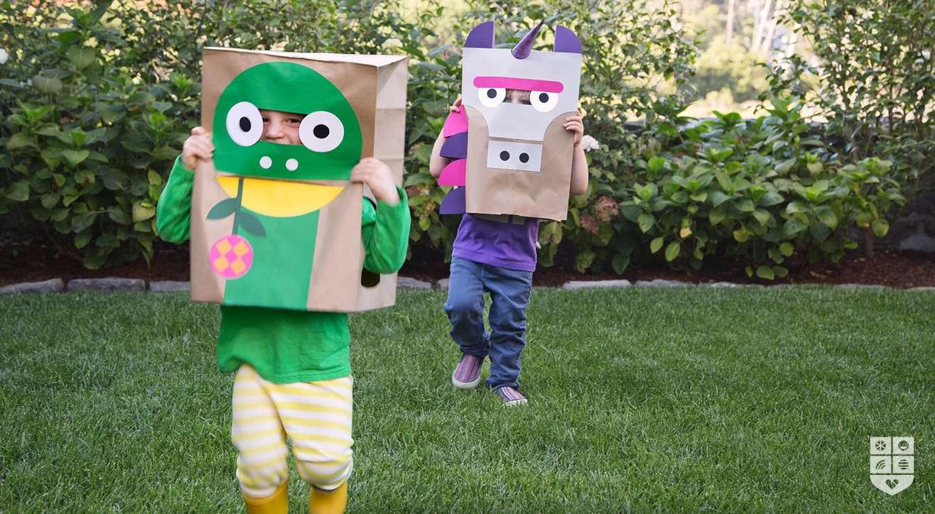paper bag costumes
