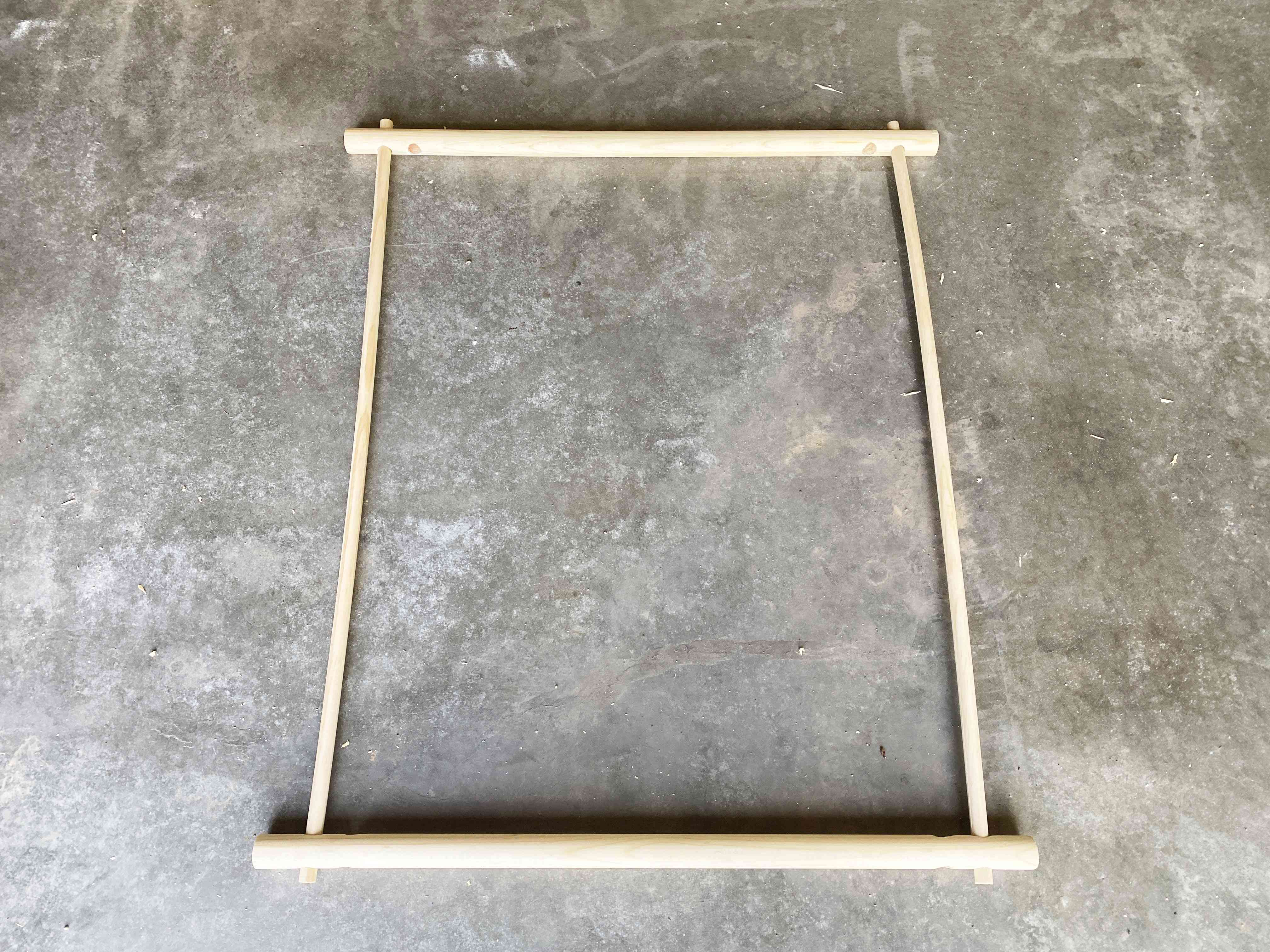 A rectangular frame