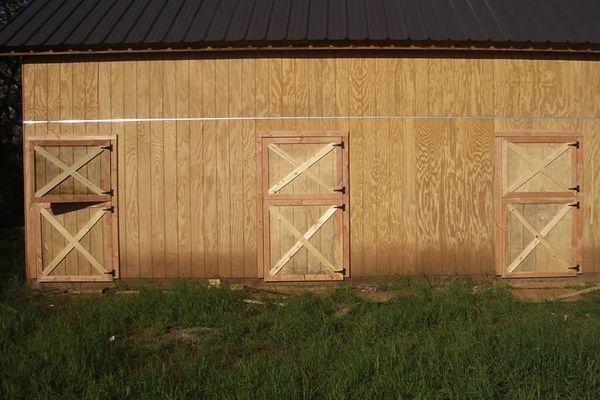 Three Dutch barn doors