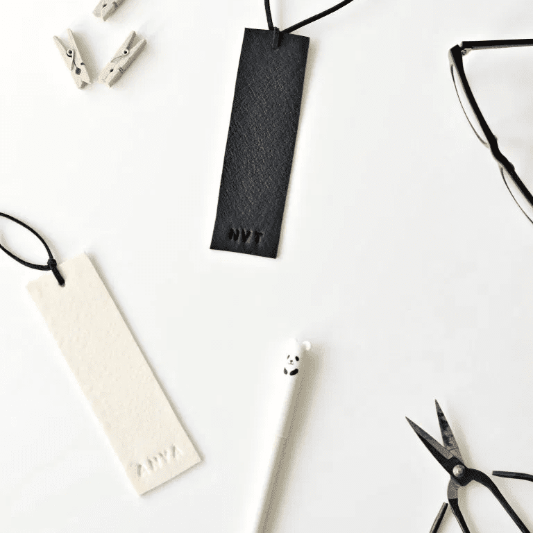 Faux Leather Bookmark