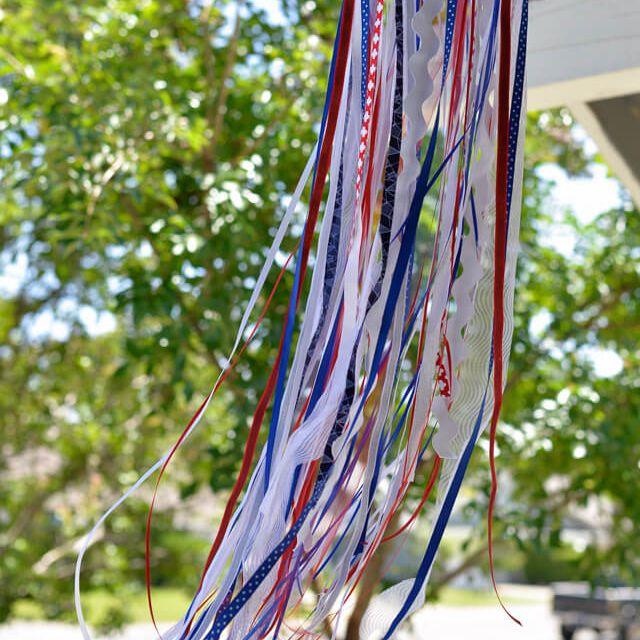 DIY Patriotic Ribbon Windsock