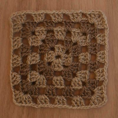 Crocheted Wool Granny Square