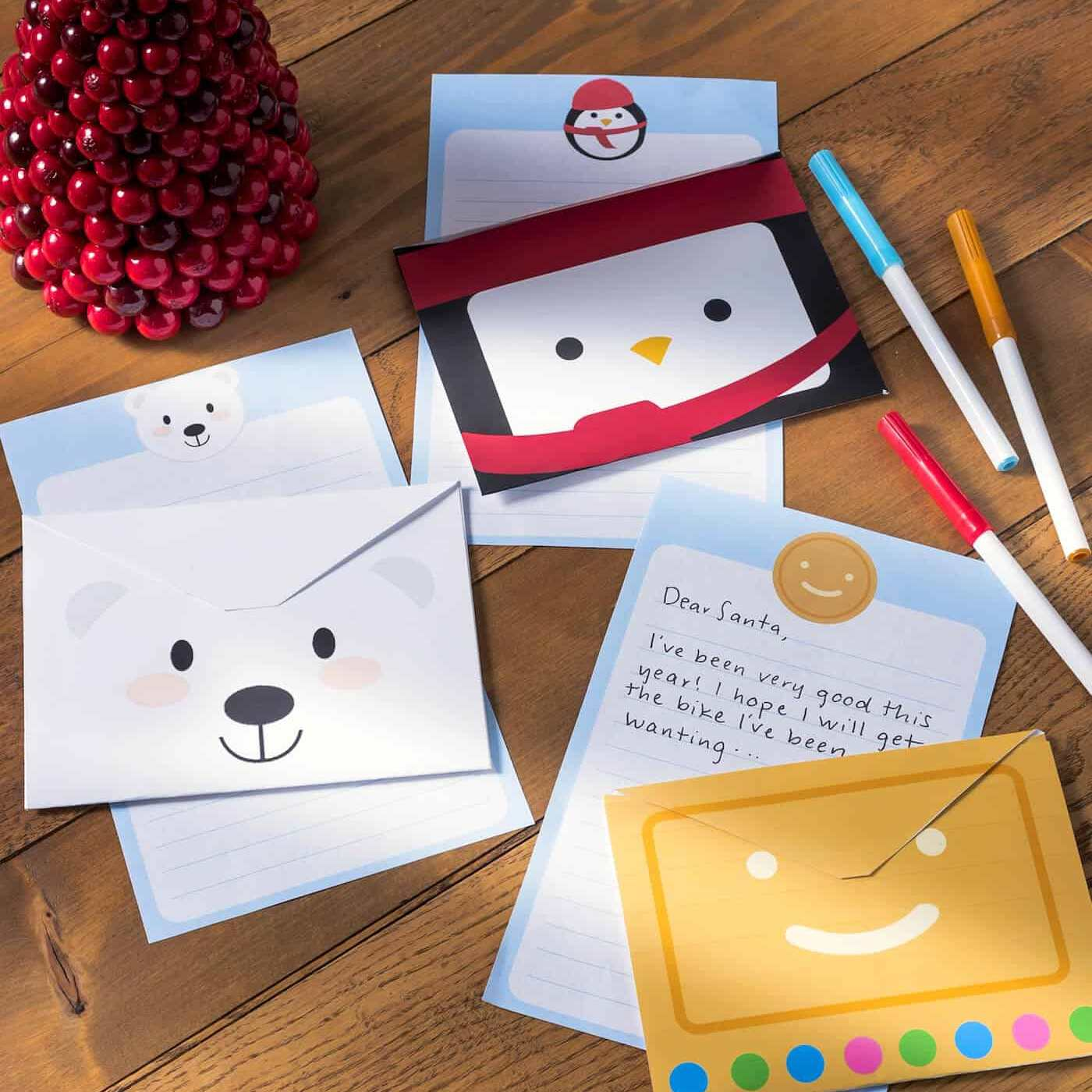holiday stationery set for kids