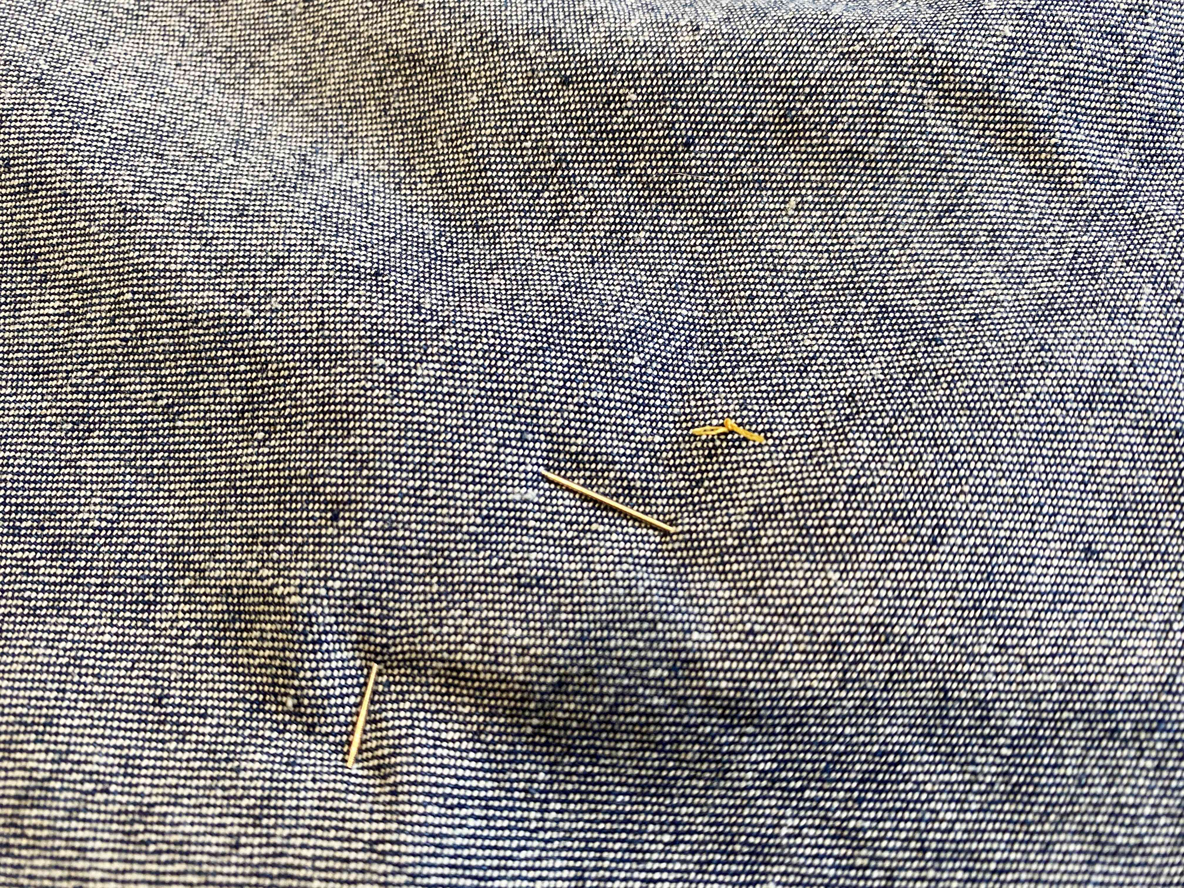 A knot in the back of denim