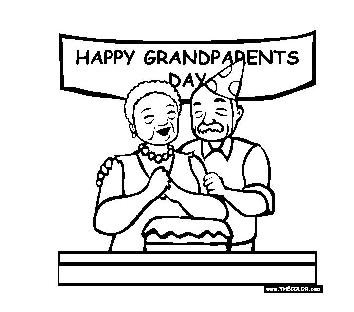 Grandparents Day Online Coloring Pages At TheColor