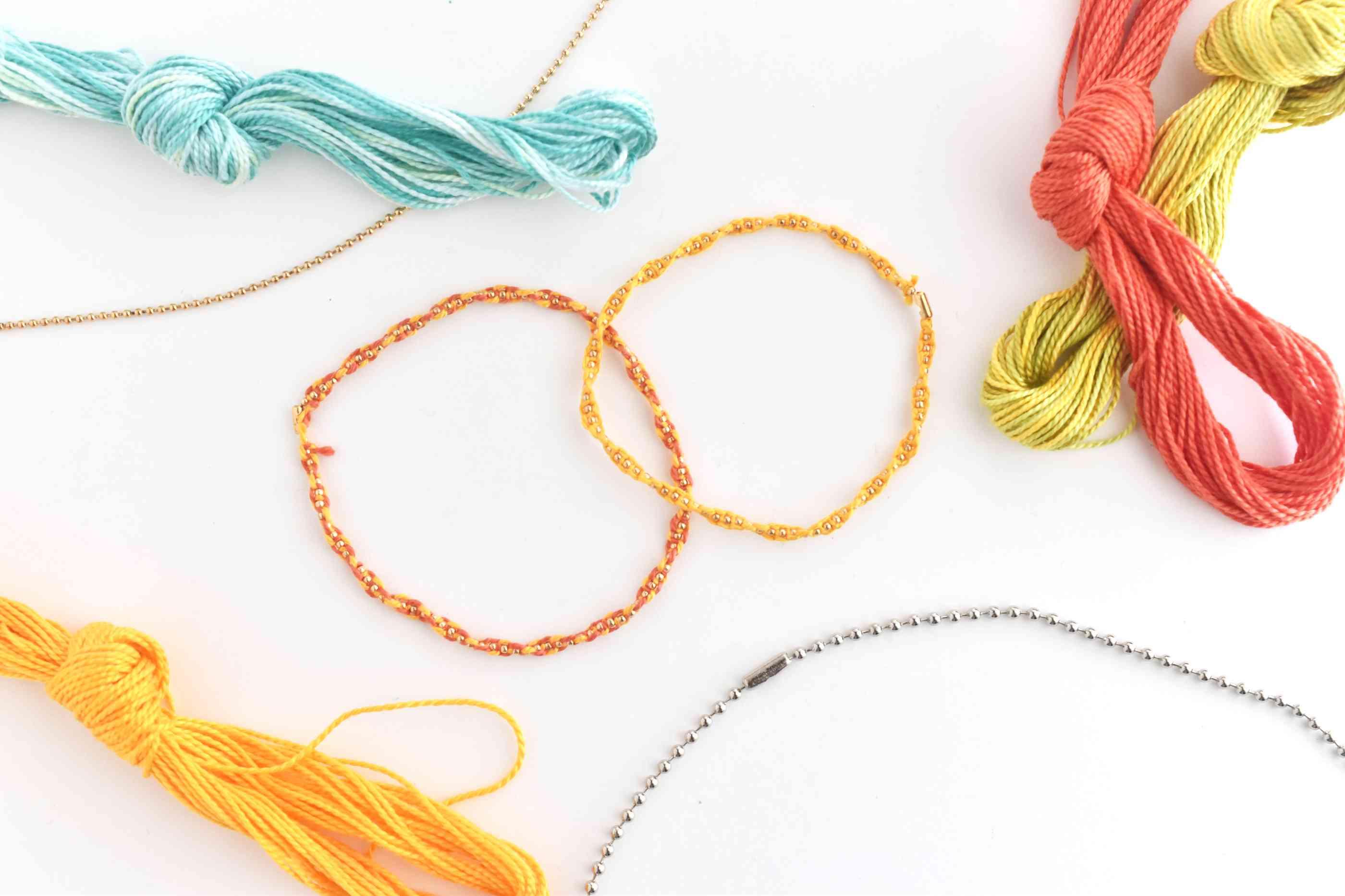 DIY Twisted Knots on a Ball Chain Bracelet