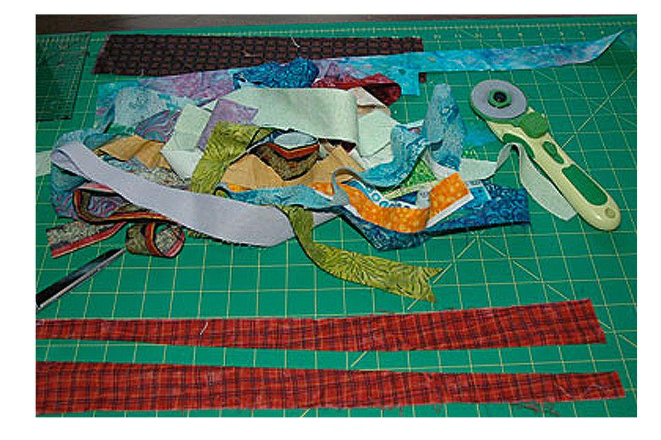 String quilt materials