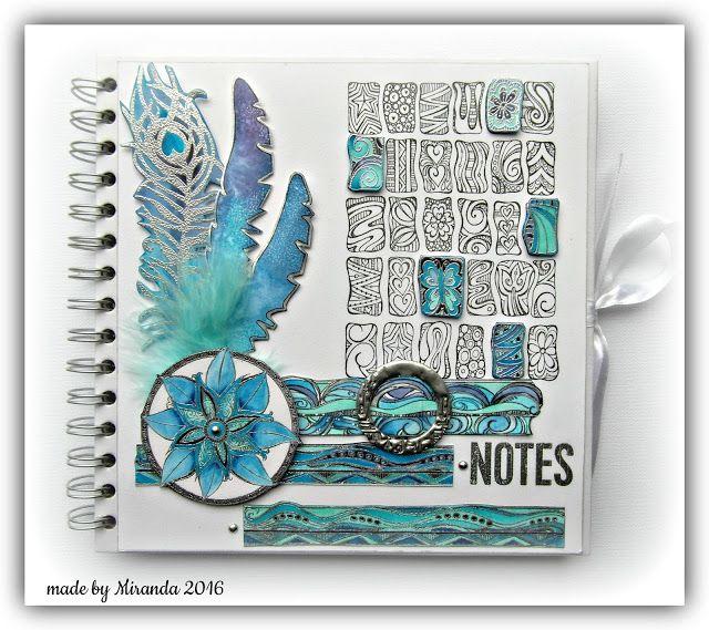 zentangle inspired notebook