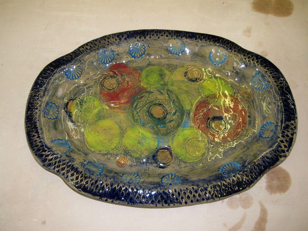 Underglazed platter
