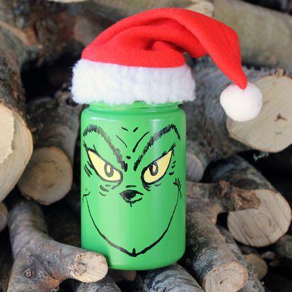 grinch mason jar christmas craft for kids