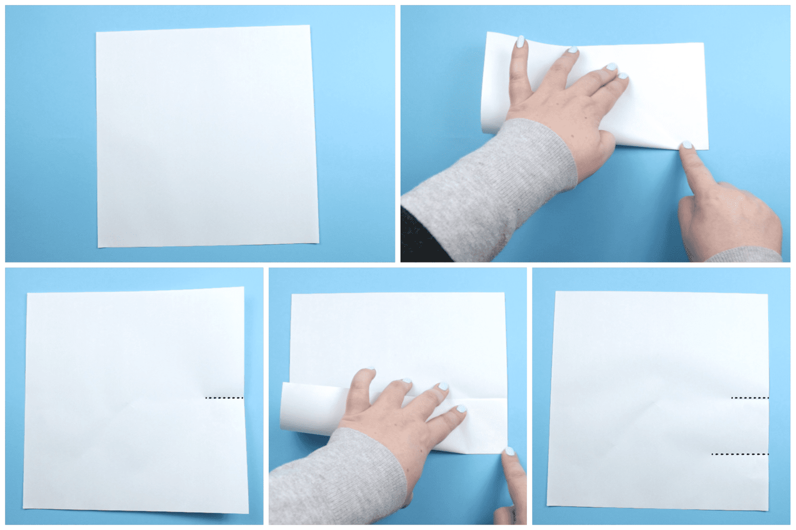 Kirigami Snowflake Instructions 01