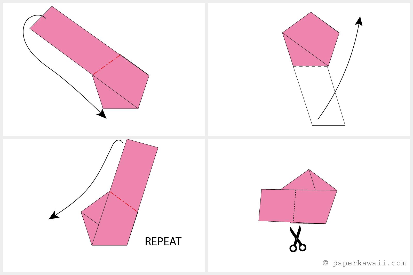 DIY Origami Lucky Star Earrings | 1066x1600