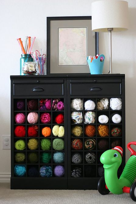 diy yarn storage