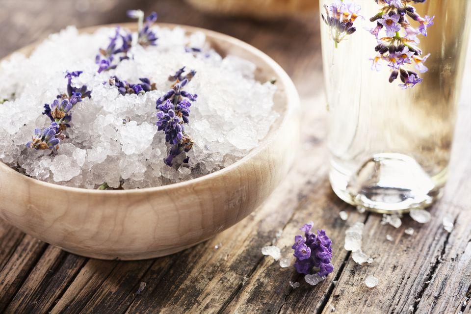 bath salts in a bowl