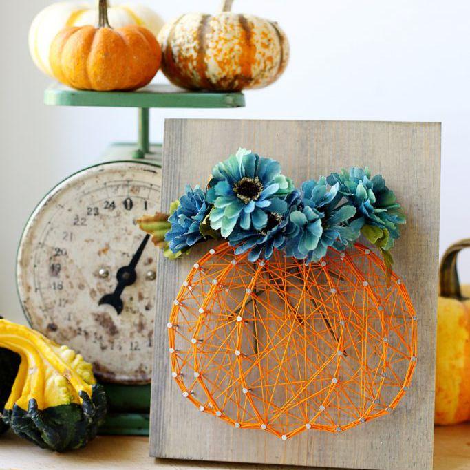 Fall String Art DIYs