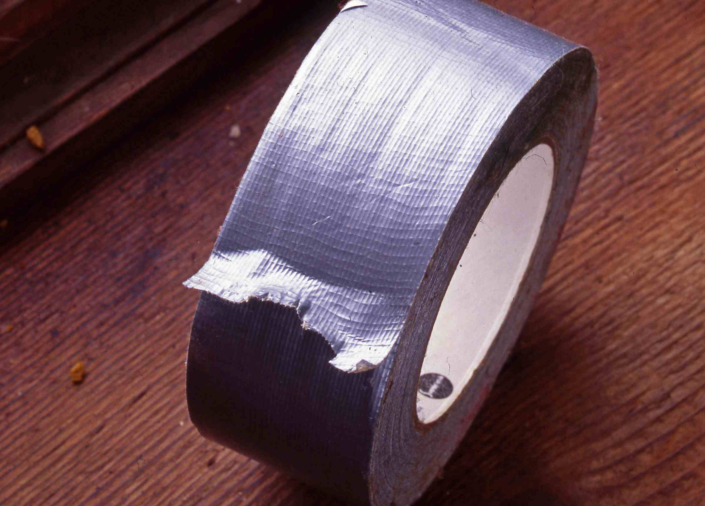 Close up of duct tape roll