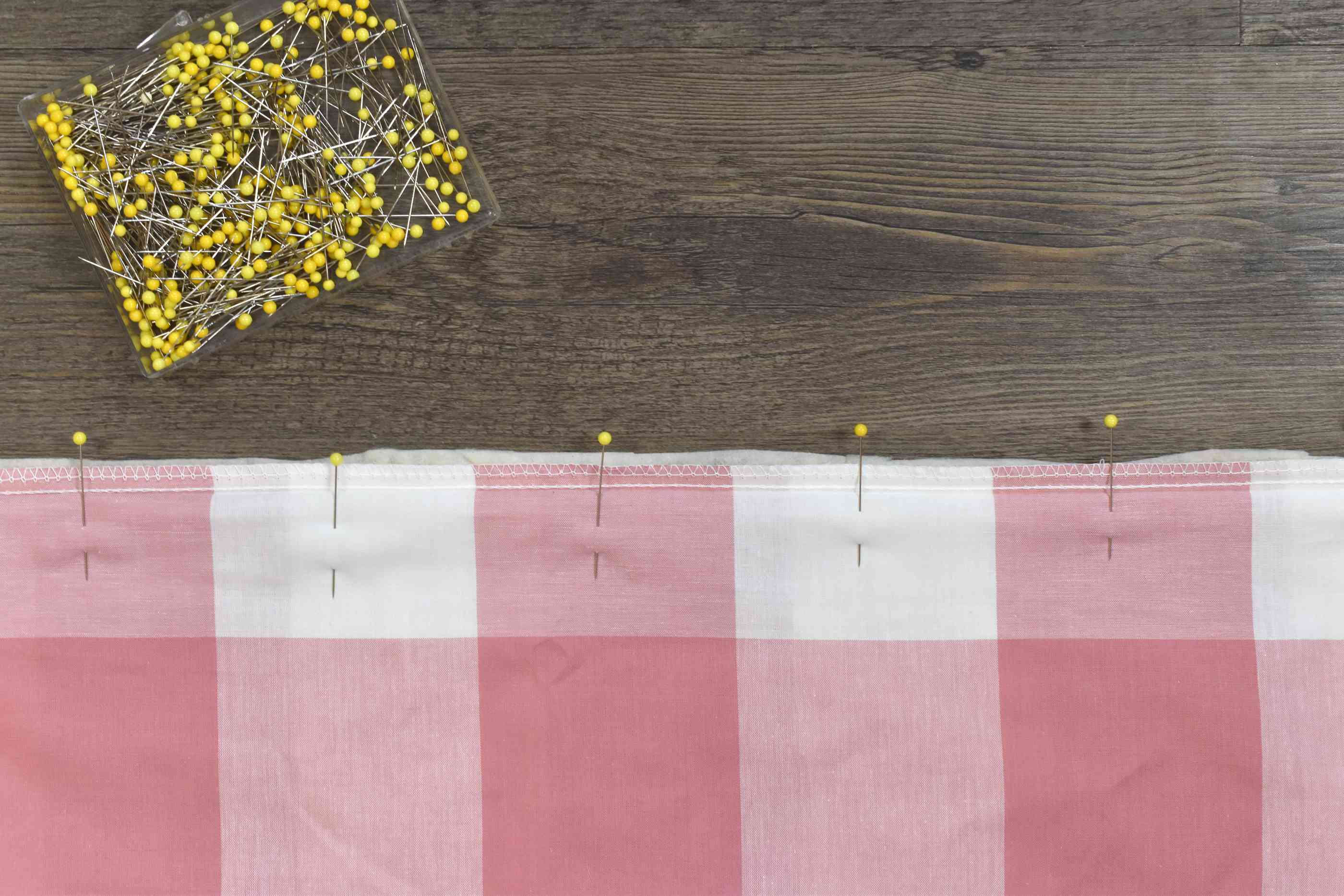Pin and Sew the Fabric and Batting Layers