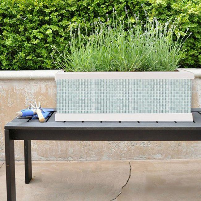 DIY Tile Mosaic Planter