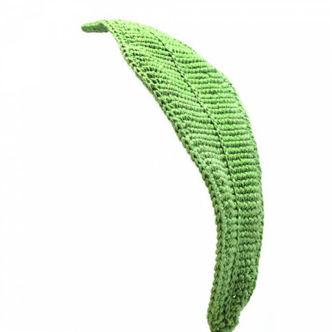 Big green leaf crochet